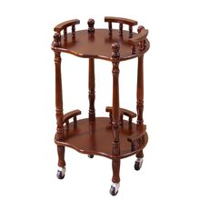 Wood Tea Table Wheeled brake Round square small coffee table sofa side table edge corner simple chess wood living room furniture(China)