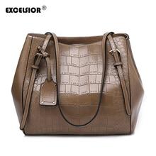 EXCELSIOR 2019 New Womens Bag Brand Leather luxury Handbag PU Shoulder Bags Original Design Messenger for Women