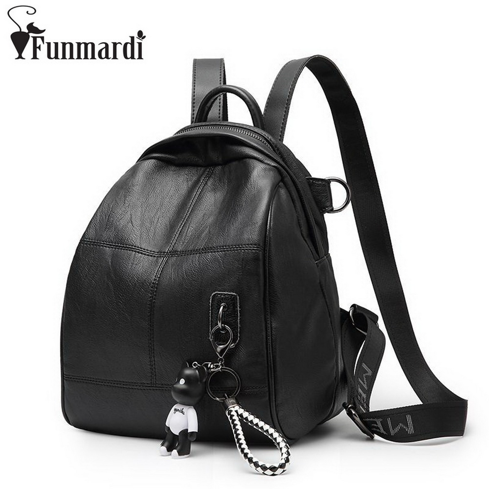 FUNMARDI Casual Preppy Style Shoulder Bags New Fashion Travel Bag Schoolbag For Teenager Girls Large Capacity