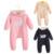 2016 nuevo Invierno del bebé del mameluco rosa niña ropa unisex mono azul marino de una pieza marca roupas de bebe infantil recien nacido