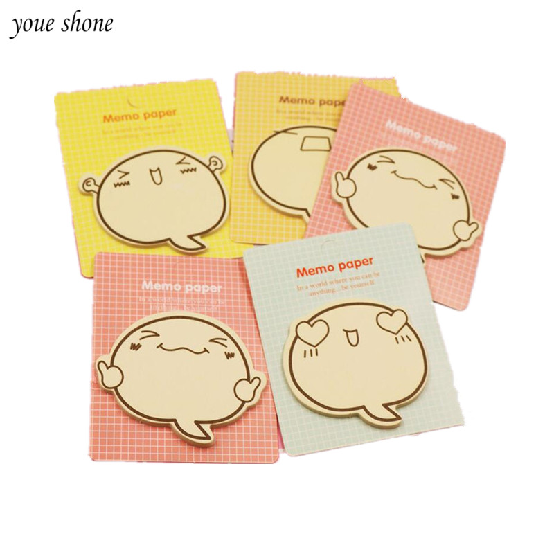 YOUE SHONE 2Pcs/lot Creative cartoon expression inspirational brother N times affixed to the lovely note posted a note book