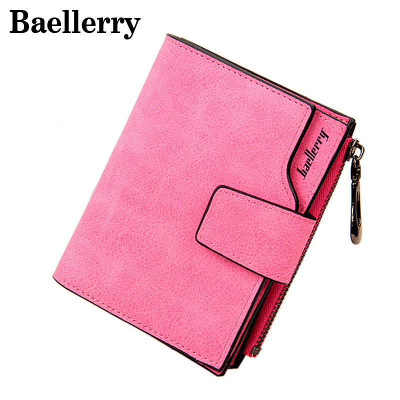 Baellerry Fashion Women Wallets Leather Small Wallet Female Brand Designer Women Purse Money Bag With Zipper Coin Pocket WWS016 contact s wallet women genuine leather wallet female card holder wallets female purse brand designer money bag wallet female