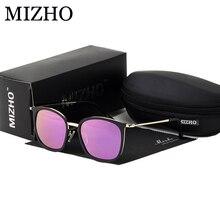 MIZHO High Quality Aluminium Frame Day&Night Use Drivers Car Rectangle Yellow Sunglasses Men Polarized Semi-Rimless