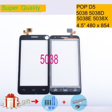 For Alcatel One Touch POP D5 5038 5038D 5038E 5038X OT5038 Touch Screen Touch Panel Sensor Digitizer Front Glass Touchscreen alcatel one touch pop d5 5038d white