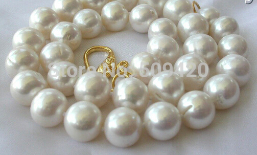 ~~ Free Shipping >>stunning big 12mm round white freshwater cultured pearl necklace free shipping stunning big 12mm baroque white freshwater cultured pearl necklace