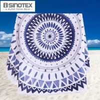 Cotton Round Beach Towel 150*150cm/59*59'' Bath Towel Tassel Decor Geometric Printed Bath Towel Summer Style 1pcs/lot
