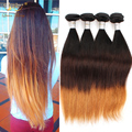 8A Good Brazilian Virgin Hair Ombre T1B/4/6 Straight Weave 4 Pcs Ombre Human Hair Brazilian Straight Hair Ombre Hair Extensions