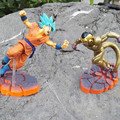 Anime Dragon Ball Z Resurrection F Blue Son Goku Battle Ver VS Gold Frieza PVC Action Figure Model Collectible Toy Gifts