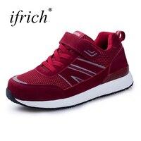 Ifrich סניקרס ספורט נשים נעלי בנות נוחות נעלי ריצת נעלי ספורט מאמני אישה יין סגול