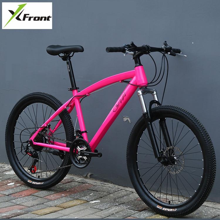 Original X-Front Brand 21 24 27 Speed 26'' Color Carbon Steel Damping Mountain Downhill Bike Mtb Bicicleta Disc Brake Bicycle