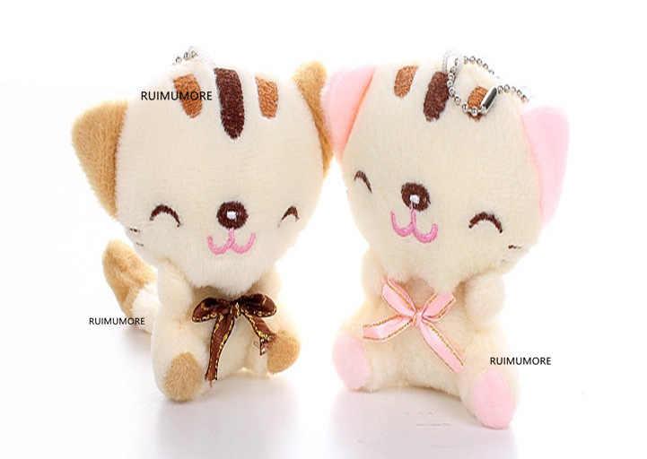 3 색-7cm 고양이 플러시 동물 장난감, 아기 장난감, 아이의 선물 플러시 장난감
