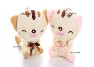 3Colors- 7cm CAT Plush Stuffed animal Toy , Baby Toy , Kid's gift plush toys(China)
