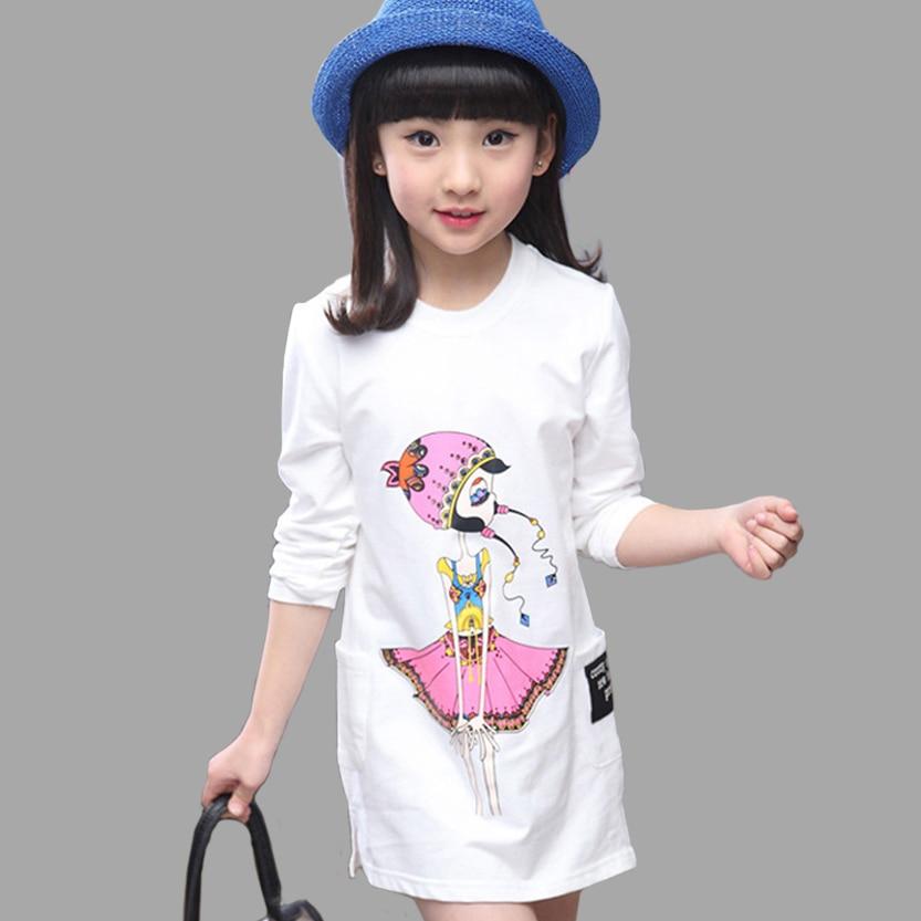 Long T Shirts For Girls Spring Autumn Children Clothing Cartoon Girls Tees Shirts Teenage Kids ...