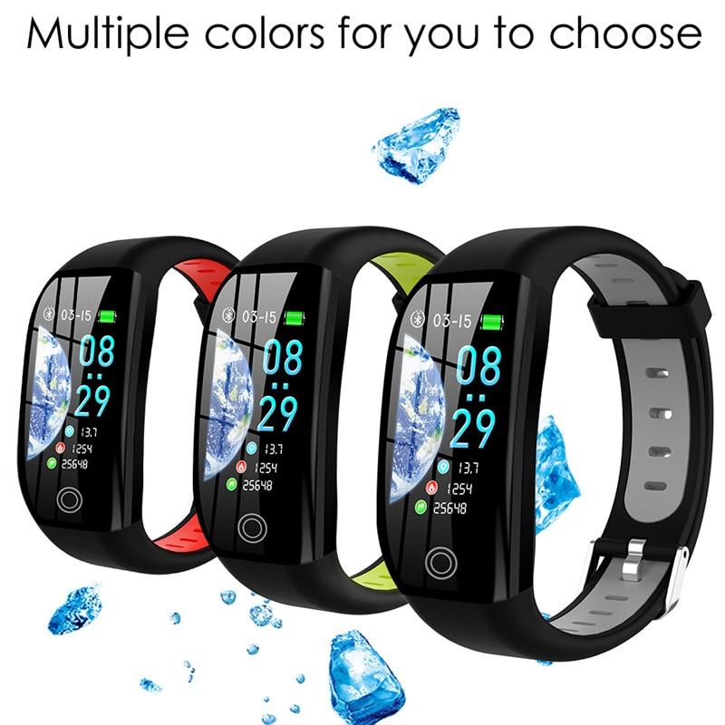 F21 Pulseira à prova d' água pulseira de fitness monitor de pressão arterial Inteligente sono rastreador pedômetro Bluetooth faixa de relógio das mulheres dos homens