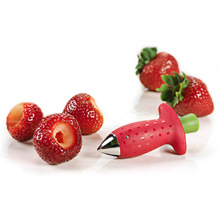1Pcs Strawberry Huller Metal Tomato Stalks Plastic Fruit Leaf Knife Stem Remover Gadget Hullers Kitchen Tool