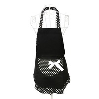 Fashion Dots Pattern Sleeveless Halter Neck Cute Vintage Flirty Womens Bowknot Kitchen Bib Apron Dress With