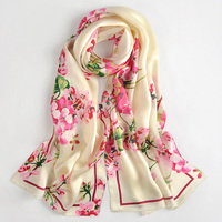 2017 Fall Winter Scarf For Women Shawls And Wraps Long Scarf Silk Headscarf Ladies Stoles Horse Floral Print Pure Silk Scarf