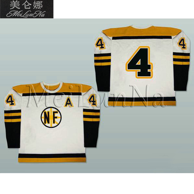 MeiLunNa Customize OHL Niagara Falls Flyers Jerseys 4 Bobby Orr 1 Columbus 16 Sanderson 17 Locke White Sewn On Any Name NO.Size steven page niagara falls