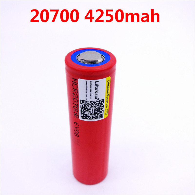 1pcs/lot Liitokala For SANYO 20700B 20700 4250mAh battery NCR20700B high rate battery cell 20A 20700