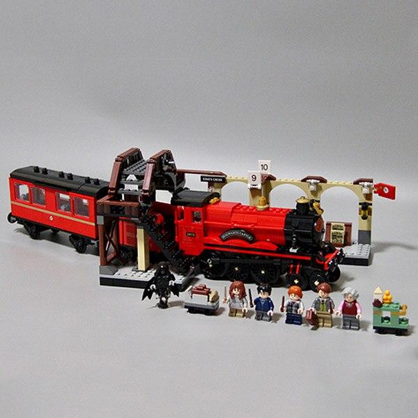 Harri Potter Série Poudlard Express Plate-Forme Train À Vapeur blocs de construction 832 pièces jouets briques compatible avec Legoing Film