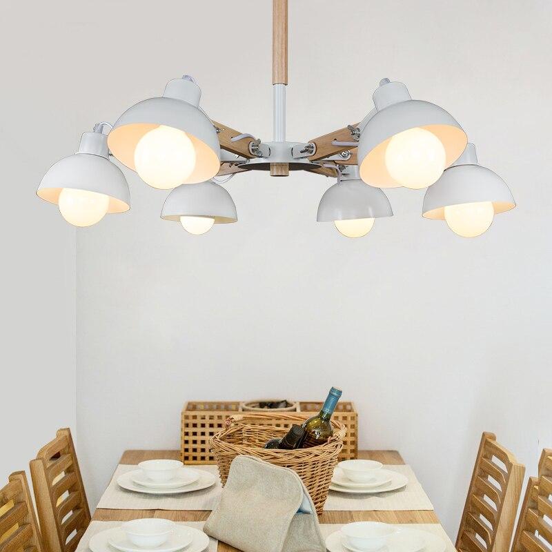 LED черный гладить Творческий Дерево Открытый Подвесные Светильники спальня лампы ретро современный минималистский Американский Скандинав