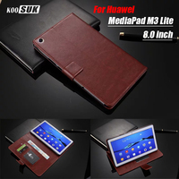 Luxury Wallet Card Hole Flip Leather Case Cover For Huawei MediaPad M3 Lite CPN W09 AL00