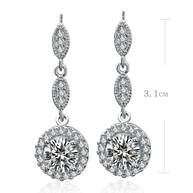 New arrival super shiny cz zircon water drop 925 sterling silver female stud earrings wholesale jewelry gift drop shipping lady in Stud Earrings from Jewelry Accessories