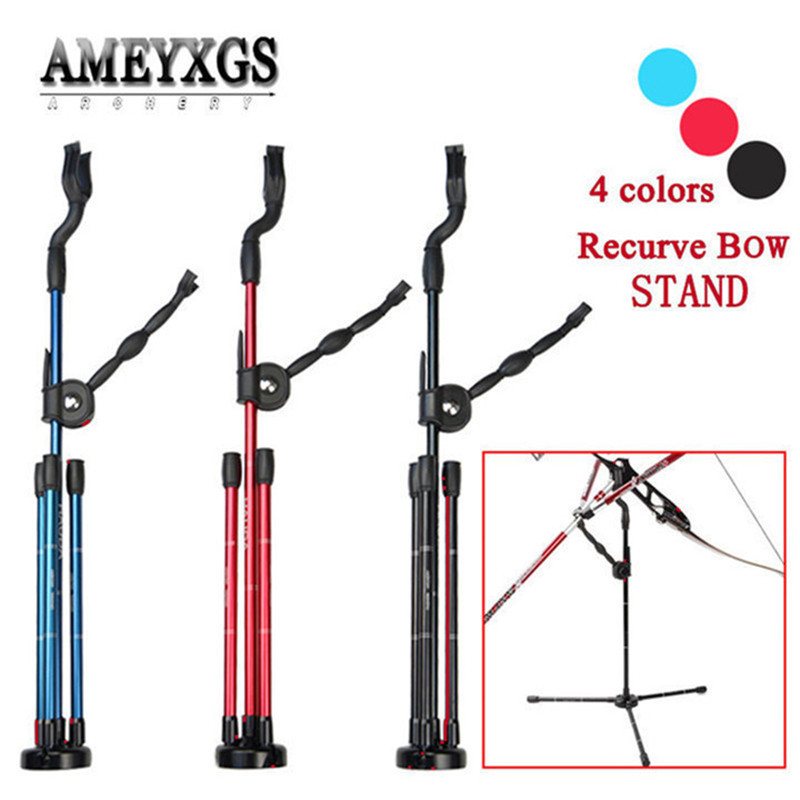 Aluminum Alloy Foldable Compound Bow Recurve Bow Stand Tripod Rack Holder