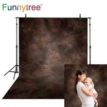 Funnytree פוטוגרפיה תפאורות צילום מוצק צבע כהה חום ישן מאסטר מופשט רקע תמונה סטודיו photophone