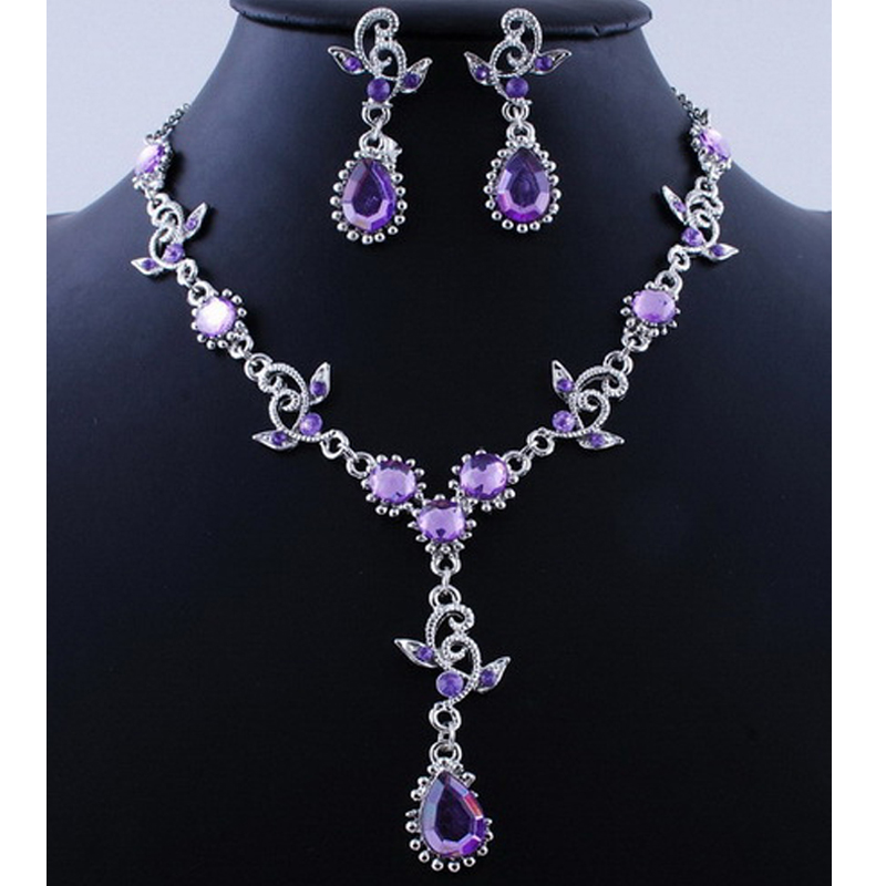 Pink Top Purple Crystal Vintage...