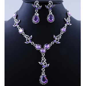 Pink Top Purple Crystal Vintag