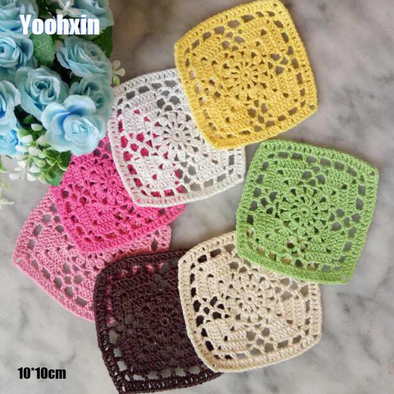 Tapete redondo de lujo hecho a mano de encaje de algodón para mesa, tapete de ganchillo de tela, taza, mantel, posavasos de té, tapete de cocina para comedor