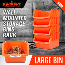 HORUSDY 4Pcs Parts Storage Bins Tool Organizer Rack Box Workshop Tray With Wall Mounted Board For Car Finishing