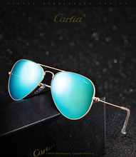 2017 brand new fashion designer pilot sunglasses CA 3025 top quality gold flash mirror sunglass 58mm blue green pink sun glasses