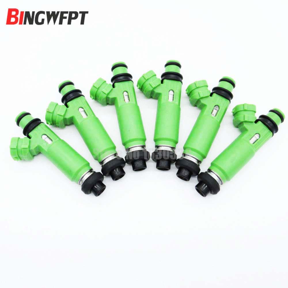 цена на 6pcs/lot 100% new original Fuel Injectors OEM 195500-3170 1955003170 MD332733 for Mitsubishi Montero Sport 3.0L 6G72 1998-2003