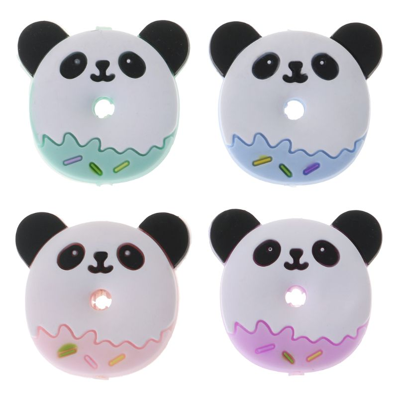 Silicone Beads Panda Cartoon Diy Baby Teether Teething Care Oral Supplies Necklace Pendant Bracelet Bite Chew Toys Food Grade