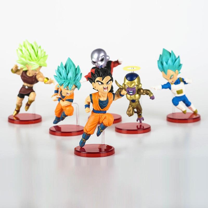 6pcs/set Dragon Ball Super vol.9 Super Saiyan God Super Goku Vegeta Kale Frieza Son Gohan Jiren PVC Figure collection model Toy earth 2 vol 6