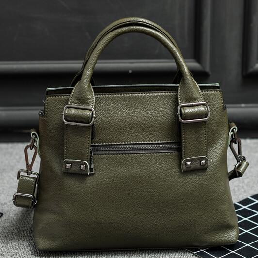 Brand Handbags Women Messenger Bags Female Genuine Leather Purse Solid Shoulder Bags Office Lady Casual Tote New Top-Handle Bag 2pcs set vintage handbags women messenger bag female purse solid shoulder office lady casual tote genuine leather top handle bag