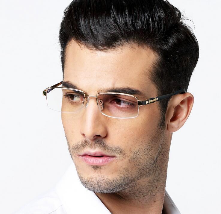 9404c76c2b Gafas gafas de titanio hombres computadora claro óptico receta diseñador  gafas miopía leyendo Hipster ojo gafas