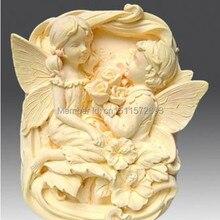 Ангел влюбленные Ремесло Искусство Силиконовые формы мыла Ремесло формы мыла ручной работы