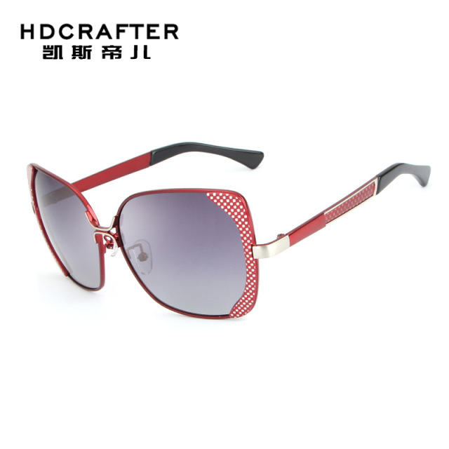 f67f9772a1 HDCRAFTER 2018 Brand Design Luxury Polarized Sunglasses Women Ladies  Gradient Sun Glasses Female Vintage oversized Eyewear UV400