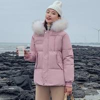 Winter jacket Women 2019 Casual thick warm big fur hooded parkas coat Solid winter sintepon jacket female outwear coat