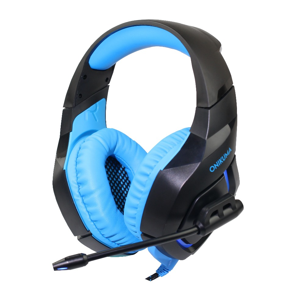 ONIKUMA K1 B Gaming Headset headphones with Microphone Headphones Deep Bass Noise Canceling for Xbox One PS4 PS3 Xbox 360 PC huhd 2 4ghz fiber optical wireless gaming headphones for xbox 360 xbox one ps4 pc black