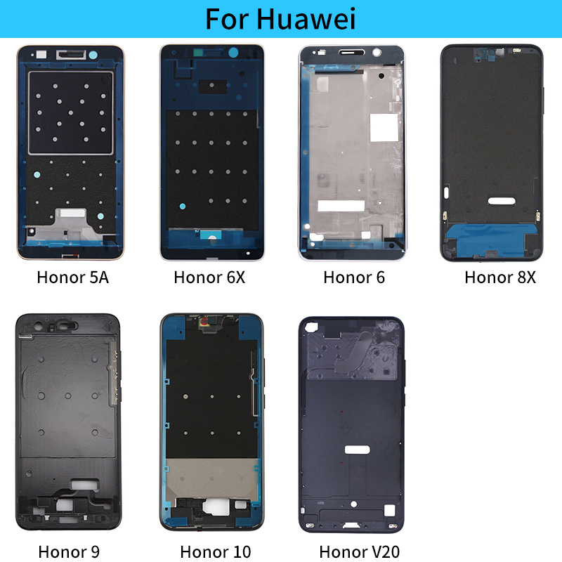 Housing Middle Frame Bezel Replacement Parts For Huawei Honor 5A 6X 6 10 8X 9 V20 Middle Plate Cover