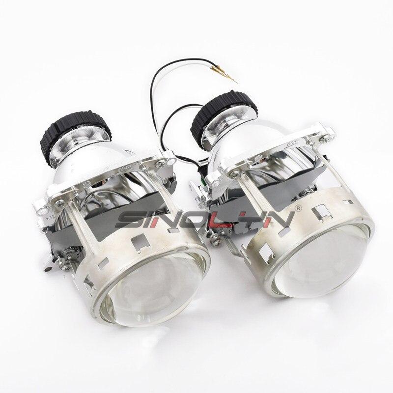 AL Bi-xenon Projector Lens For BMW E46 E60 X3//Benz C200 C220 CL500//Volvo S40 C70