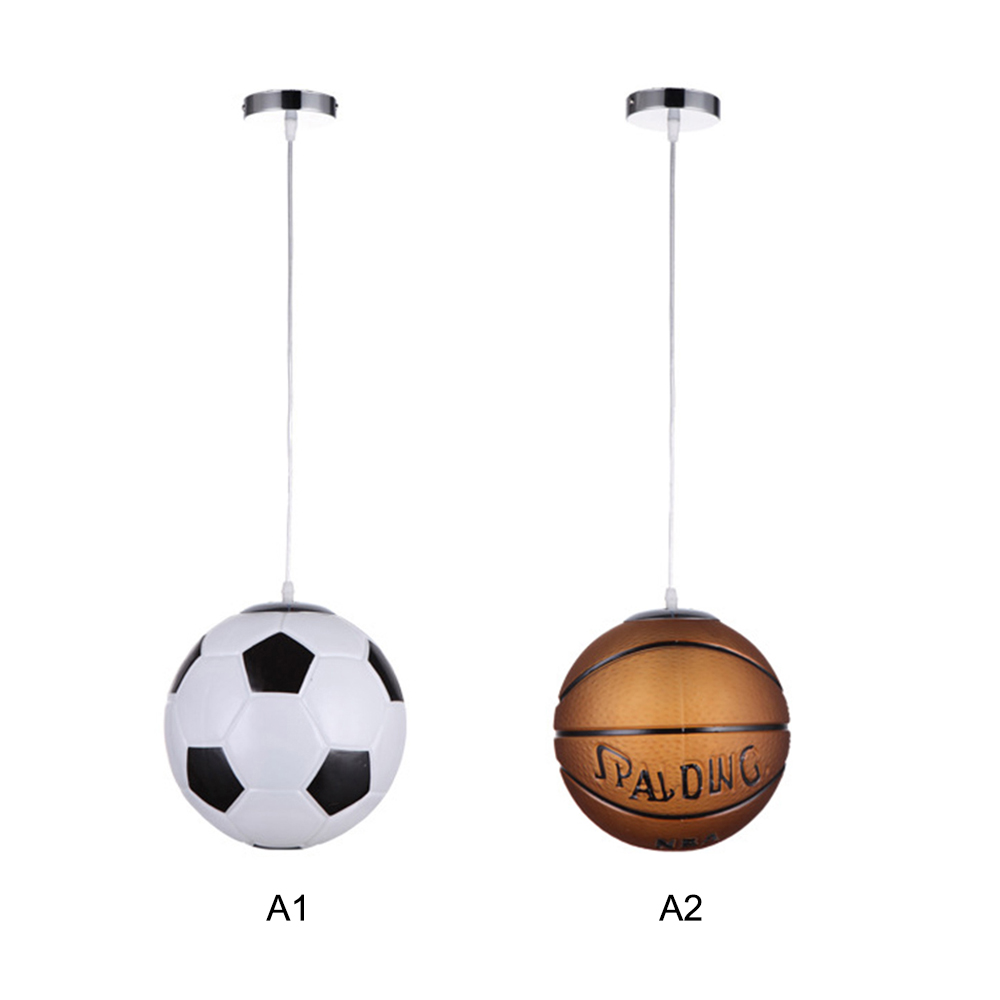 Football Shape LED Hanging Lamp Ceiling Pendant Lamps Glass Night Lights Modern Home Living Room Decoration Inside Lighting