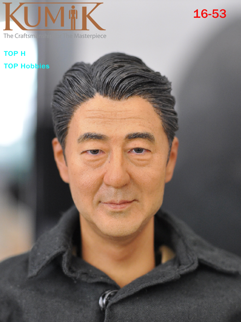 KUMIK Head KM16-53 1:6 Korea Male/Man Star Head Sculpt Carving Fit 12 inch Hot Toys Phicen kumik TTL Doll 12