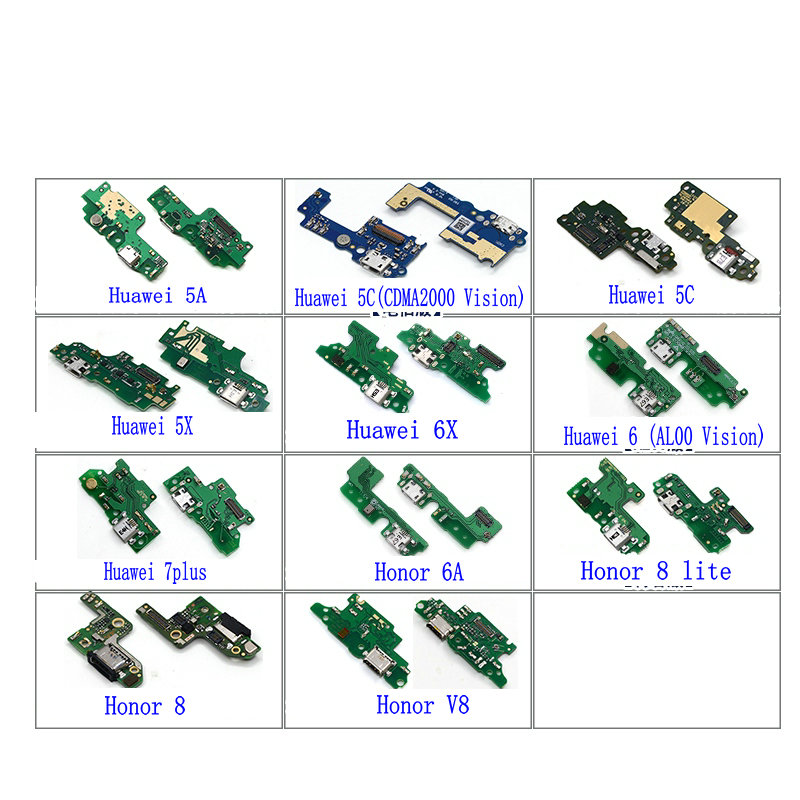 New USB Charging Charger Board Dock Port Flex Cable For Huawei Honor 5A 5C 5X 6X 6A Play Honor 8 8Lite V8 V9 Phone