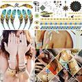 10x Золото Серебро Металлик Flash Временные Наклейки Татуировки Водонепроницаемый Временные Руки Шеи Рука Живопись Body Art нетоксичные