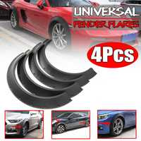 Universal 4Pcs Car For Fender Flares Extension Flexible Wide Wheel Arches For AUDI A3 A4 A5 A6 A7 For BMW F30 F80 M3 F82 M4 320i